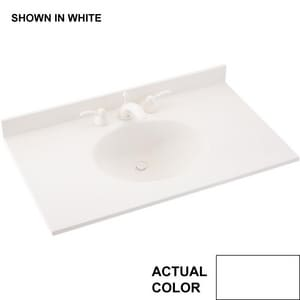 Swan Corporation 25 x 22 in. Swanstone Single Bowl Vanity Top SVT1B22