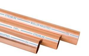 Mueller 10 ft. Hard Type L Copper Tube LHARD10