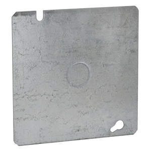 Raco 4-69/100 in. Square Flat Cover with 1/2 in. Knockout R833