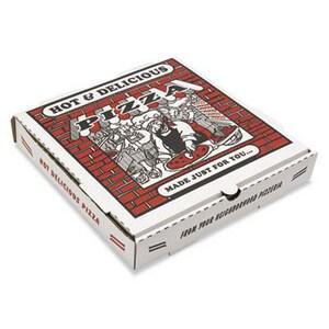 1-3/4 in. E-Flute Pizza Box in White BOXPZCORE