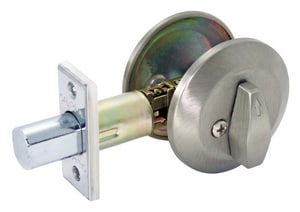 Cal-Royal One Sided Deadbolt Metal-Stainless Steel CID60US
