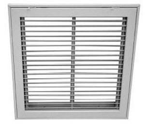 Proselect 24 x 12 in. Fixed Bar Filter Grille V2 White PSFBFG2W2412