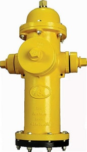 American Flow Control 5-1/4 in. Open Hydrant with Stortz Yellow AFCB84BLAOLTZYELL