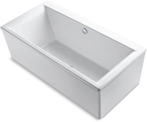 Kohler 4733289 72 x 36 in. Freestanding Bathtub with Straight Shroud and Center Drain K6366
