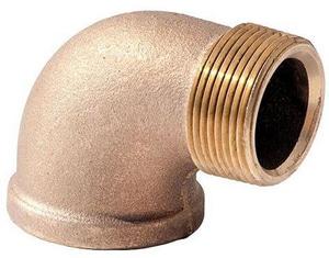 MNPT x FNPT Brass Import Street 90 Degree Elbow IBRS9