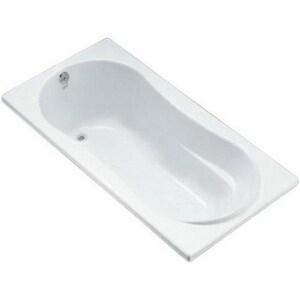 Kohler Proflex® 20-1/8 x 72 x 36 in. 72 gal 3-Wall Alcove Bathtub with Left Hand Drain KBF1159-L