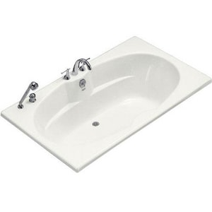 Kohler Proflex® 72 x 42 in. 3-Wall Alcove|Drop-In Bathtub with Center-Hand Drain KBF1132-F