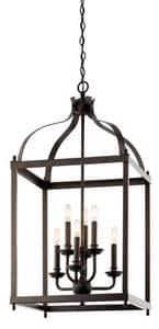 Kichler Lighting Larkin 60W 6-Light Candelabra Incandescent Pendant KK42568