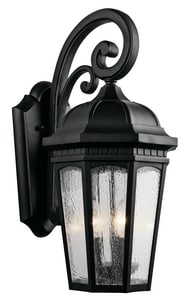 Kichler Lighting Counrtyard™ 60W 3-Light Outdoor Wall Lantern KK9034