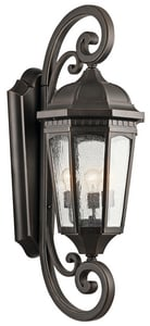 Kichler Lighting Courtyard™ 100W 3-Light Outdoor Wall Lantern KK9060