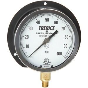 H.O. Trerice 6 x 1/4 in. Pressure Gauge T500XB6002LD