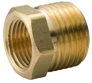 Merit Brass MNPT x FNPT Brass Reducing Barstock Hex Bushing BRBB