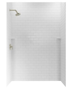 Swan Corporation 96 x 36 in. Swanstone Shower Wall Kit in White SSTMK9636WH