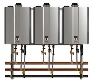 Rinnai 3-Unit Aluminum Internal Wall Mount Rack LP Gas Mounting RTRW03IP