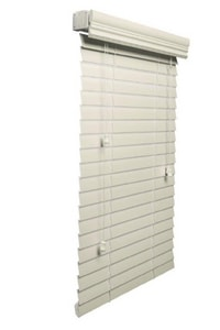 Lotus & Windoware 48 in. Faux Wood Blind in Alabaster LFC48AL
