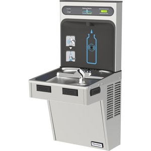 Halsey Taylor Hydroboost® 39-9/16 in. 8 gph Bottle Filling Station with Single Green ADA Cooler HHTHBHACG8WF