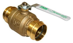 FNW Low Lead Brass Press By Press Full Port Water Service Ball Valve FNWX432
