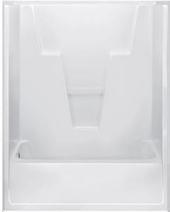 Bathcraft 60 in. Midway Fiberglass Reinforced Plastic Tub and Shower in White B093100