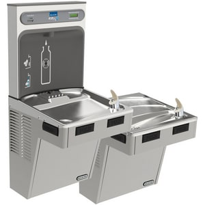 Elkay EzH2O® Bottle Filling Station with Bi-Level ADA Cooler ELMABFTL8WSLK