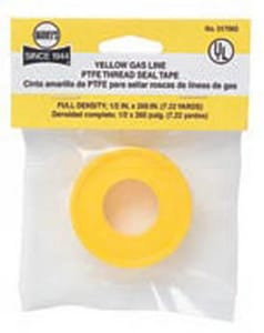 William H. Harvey 1/2 in. x 260 ft. PTFE Tape in Yellow H017065