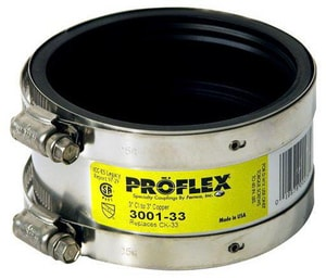 Fernco Proflex® Cast Iron x Copper Flexible Coupling F3001