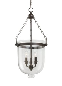 Seagull Lighting Archie 60 W 28-3/4 in. 3-Light Candelabra Pendant in Autumn Bronze S65047715