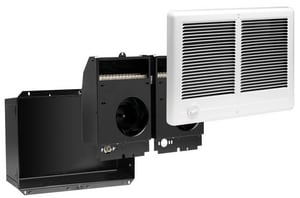 Cadet Manufacturing Com-Pak Twin Electric Wall Heater Complete Unit with Thermostat, Wall Can and Grill C6756