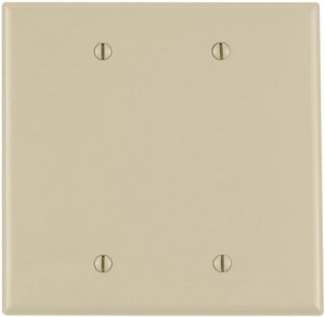 Leviton 2-Gang Blank Thermoplastic Nylon Wall Plate LPJ23
