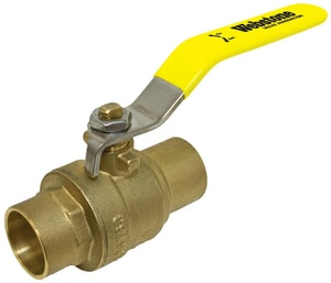 Webstone Company 600 psi Brass Sweat Ball Valve with Stainless Steel Lever W5170SSL