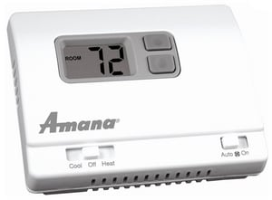 Amana HVAC 1H/1C Manual Changeover Non-Programmable Thermostat Wired A2246002