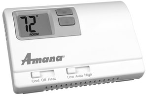 Amana HVAC 2H/1C Manual Changeover Non-Programmable Thermostat Wired A2246003