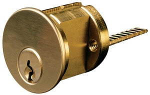 Kwikset Rim Cylinder in Bright Brass I7015KS803KD