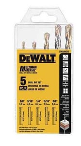 DEWALT 1/8 in. 5-Piece Multi-Material Bit Set DDWA56015