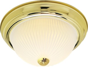 Nuvo Lighting 5-1/2 in. 60W 2-Light Medium E-26 Base Flushmount Ceiling Fixture in Polished Brass N76132