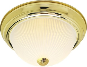 Nuvo Lighting 60W 3-Light Flushmount Ceiling Light with Frosted Ribbed Glass N76134
