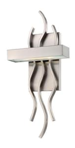 Nuvo Lighting Wave 1-Light Wall Mounted LED Wall Sconce in Brushed Nickel with Frosted Glass Shade N62104