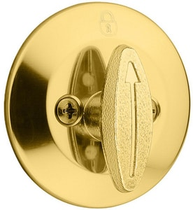 Kwikset 2-1/2 in. One Sided Deadbolt K6633RCLRCS