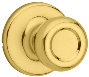 Kwikset Tylo® 2-5/8 in. Passage Door Knob in Polished Brass K200T36ALRCS