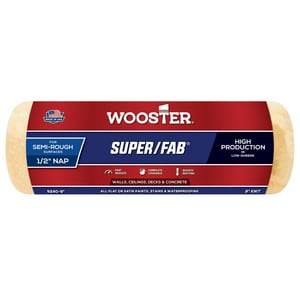Wooster Super/Fab® 9 in. Roller Cover with 1/2 in. Nap in Golden Yellow and Green WR2409