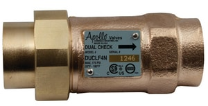 Apollo Conbraco DUCLF4N Bronze Dual Check Valve A4NLF3AA
