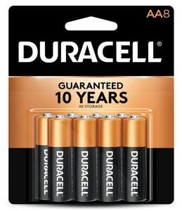 Duracell 1.5V AA Alkaline Battery 8-Pack DMN1500B8PK