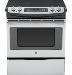 General Electric Appliances 30 in. Slide-In Electric Range in Stainless Steel GJS630SFSS