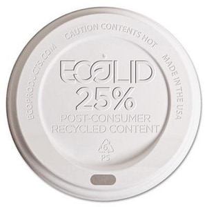 Eco-Products Ecolid™ Hot Plastic Cup Lid in White (Case of 1000) ECPEPHLWR