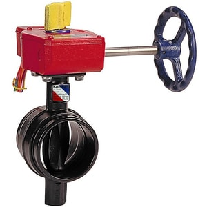 300 psi Ductile Iron Grooved Butterfly Valve Gear Operator Switch NGD47658N