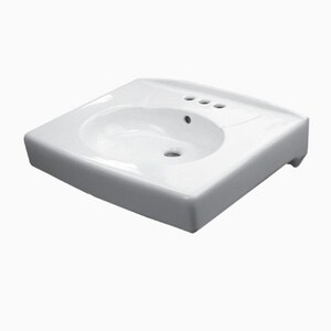 Sloan Valve 22-3/8 x 19-3/4 in. 4 Centerset Vitreous China Wall Mount Lavatory S3873005