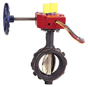 Nibco 250 psi Ductile Iron Wafer Gear Operator Butterfly Valve with Switch NWD35108