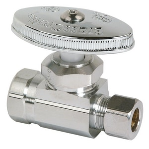 Brass Craft 3/8 in. IPS x 3/8 in. Compression Straight Stop Chrome Plated BOR10XC