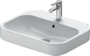 Duravit USA Happy D.2 1-Hole Ceramic Wall Mount Vanity Basin D231660000
