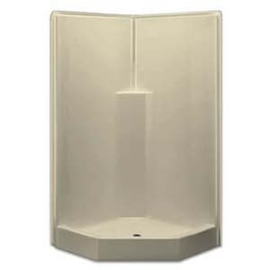 Aquarius Industries Luxury 39-1/2 x 39-1/2 in. Shower in White AG3892SHNACWHT