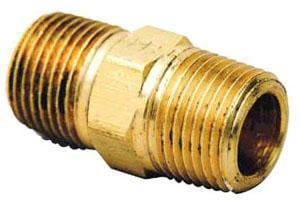 Brass Craft 1/2 in. MIP Brass HEX Nipple BPHNX